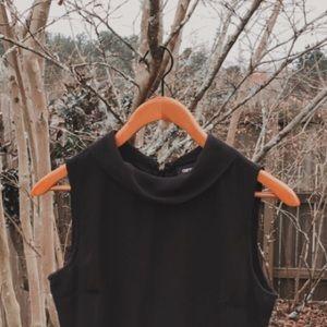 ASOS Mock Neck Pleated Dress